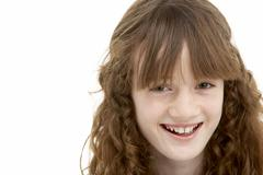 Portrait Of Happy Young Girl Stock Photos