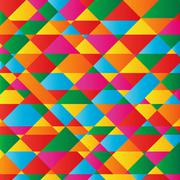 abstract geometry shape colorful background - stock illustration