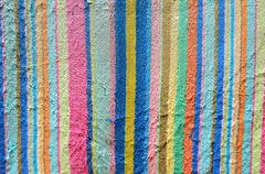 vintage old colorful fabric texture - stock photo