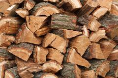 wood pile - stock photo