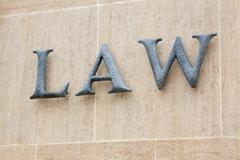 law word - stock photo