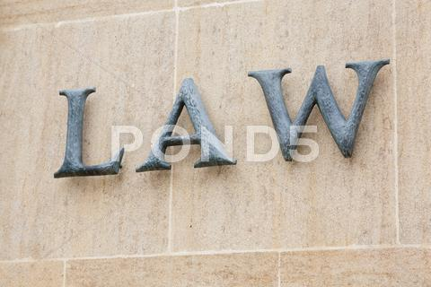 Stock photo of law word