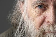 Senior Man With Long Beard - stock photo