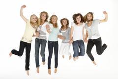 Group Of Teenage Girlfriends Stock Photos