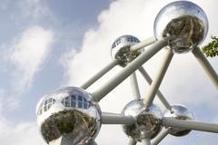 Atomium In Brussels Stock Photos