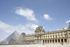 Musee du Louvre,Paris Stock Photos