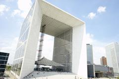 Grand Arch In La Defense Paris - stock photo