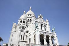 France,Paris,Basilique Du Sacre Coeur Stock Photos