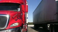 Stock Video Footage of truck stop, rest stop, business call