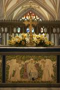 Altar In Bristol Cathedral - stock photo