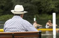 Stock Photo of Spectator At Henley Regatta