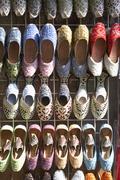 Dubai,Colourful Slippers In Souk Stock Photos