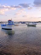fishing boats anchored - stock photo