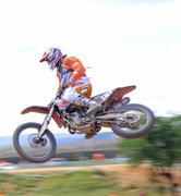 acrobacy on air - stock photo
