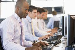 Stock Traders At Work - stock photo