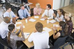 Stock Traders In A Meeting Stock Photos