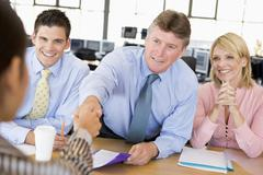 Stock Traders Conducting Interview Stock Photos