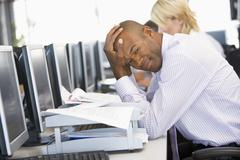 Stock Trader Looking Frustrated Stock Photos