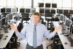 Portrait Of A Stock Trader - stock photo