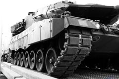 armored tank vehicle - stock photo