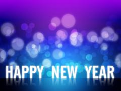 2012 happy new year background Stock Illustration
