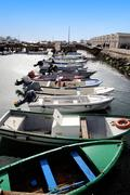 Fishing docks Stock Photos