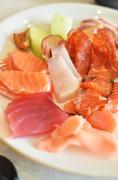 Seafood sashimi set Stock Photos