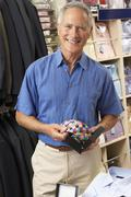 Male customer in clothing store Stock Photos