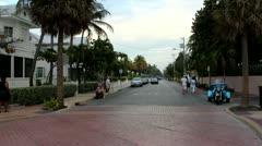 Neighborhood in Key West Florida Stock Footage
