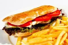 Stock Photo of cheeseburger