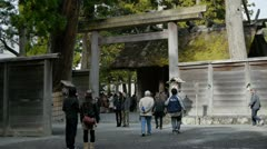 Ise Outer Shrine Gate Stock Footage