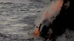 Steam Rising Volcanic Lava Stock Footage