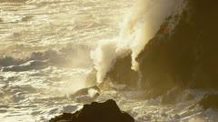 Stock Video Footage of Steam Rising Volcanic Lava Kilauea Hawaii