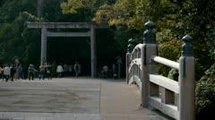 Ise Shrine Bridge Stock Footage