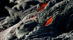 Volcanic Lava Creating Environmental Wilderness Stock Footage
