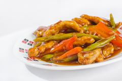 sweet and sour chicken - stock photo