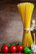 pasta background - stock photo
