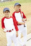 Young Boys Playing Baseball - stock photo