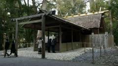 Ise Shrine Prayers Stock Footage