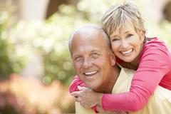 Senior Couple Having Fun In City Stock Photos