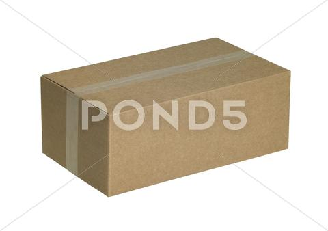 Stock photo of closed carton