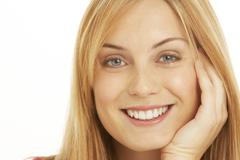 Portrait Of Pretty Smiling Woman Stock Photos