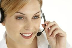Attractive Customer Services Representative - stock photo