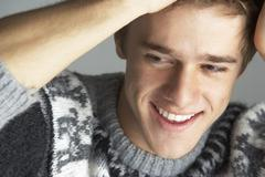 Portrait Of Young Man Wearing Jumper Stock Photos