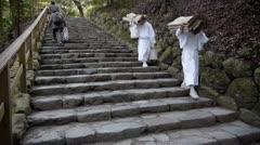 Ise Shrine Steps Stock Footage