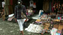 Tourist girl shopping scene 1/2 in Bali Stock Footage