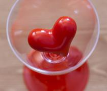 detail of red heart - stock photo