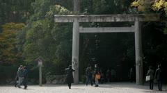 Ise Shrine Torii Gate Stock Footage
