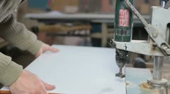 Manufacturing furniture Stock Footage