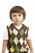 Stock Photo of Half Length Portrait Of Young Boy